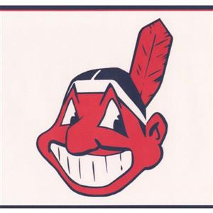 York Wallcoverings Cleveland Indians MLB Baseball Wallpaper