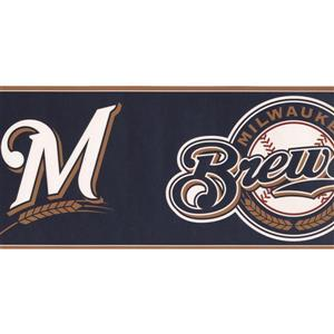 York Wallcoverings Milwaukee Brewers MLB Baseball Wallpaper