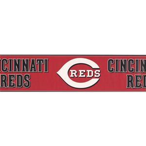York Wallcoverings Cincinnati Reds MLB Baseball Wallpaper