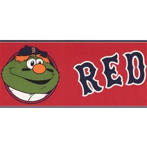 York Wallcoverings Boston Red Sox MLB Baseball Wallpaper Border