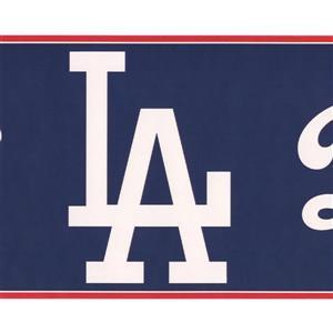 York Wallcoverings Los Angeles Dodgers MLB Baseball Wallpaper