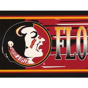 Retro Art Florida State Seminoles Wallpaper Border