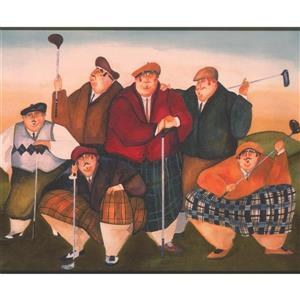 York Wallcoverings Men with Golf Clubs Wallpaper Border
