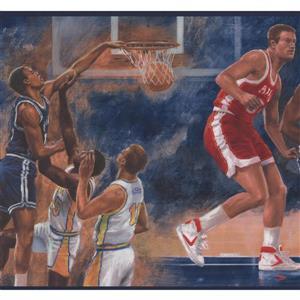 York Wallcoverings Vintage Basketball Sports Wallpaper Border