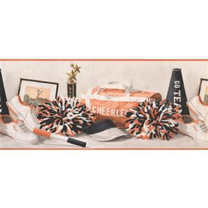 York Wallcoverings Cheerleader Wallpaper Border - Black/White