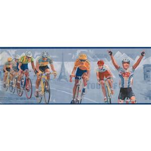 York Wallcoverings Vintage Tour de France Wallpaper - Blue
