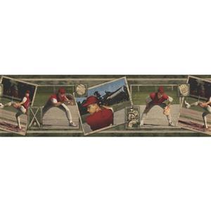 Norwall Vintage Baseball Cards Wallpaper Border