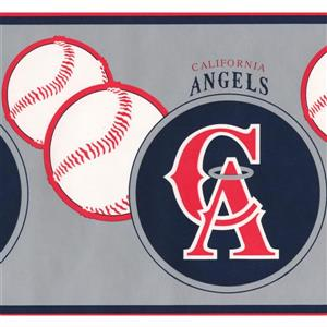 Retro Art Vintage California Angels MLB Baseball Wallpaper