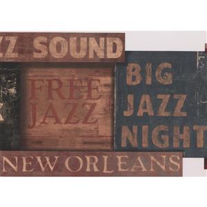 York Wallcoverings Vintage Jazz Wallpaper - Brown/Black