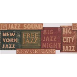 York Wallcoverings Vintage Jazz Wallpaper - Brown/Green