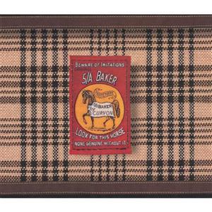 York Wallcoverings Vintage Striped Blanket Wallpaper Border - Brown