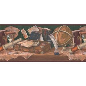 Retro Art Medieval Work Bench Wallpaper Border