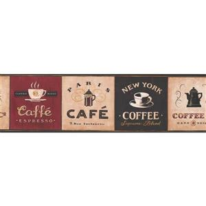 York Wallcoverings Vintage Cafés Around the World Wallpaper Border