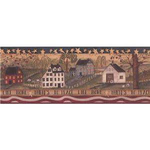 York Wallcoverings Retro -inNo Place Like Home-in Wallpaper