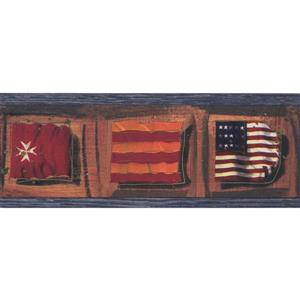 Chesapeake Vintage Flags Wallpaper Border