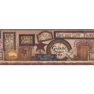York Wallcoverings Religious Plaques on Wall Wallpaper Border