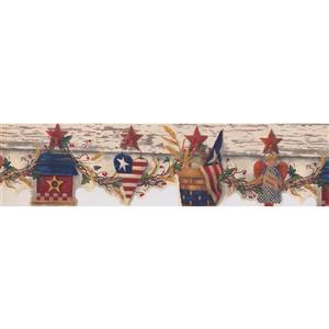 Chesapeake US Flag and Birdhouse Wallpaper