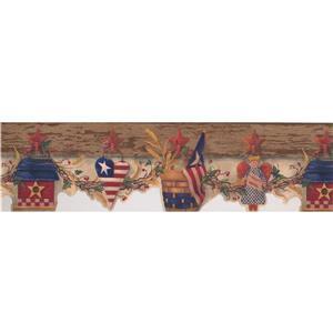 Chesapeake US Flag and Birdhouse Wallpaper