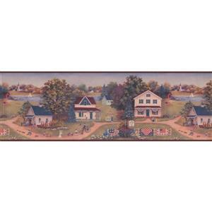 Chesapeake Vintage Countryside Kitchen Wallpaper Border