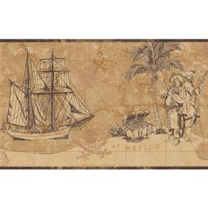 York Wallcoverings Vintage Pirate Wallpaper Border