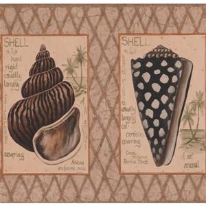 York Wallcoverings Vintage Nautical Wallpaper - Brown