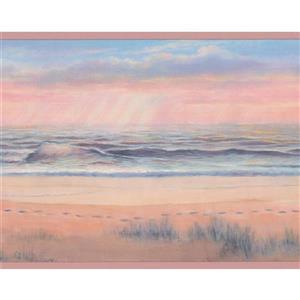 Chesapeake Seashore Footprints in the Sand Wallpaper - Beige/Brown