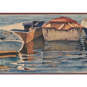 Chesapeake Vintage Row Boats Wallpaper Border