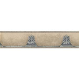 Norwall Vintage Faux Stone Wallpaper Border - Beige