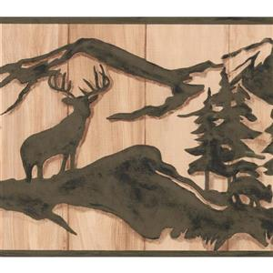 York Wallcoverings Abstract Deer and Bear Wallpaper -  Green