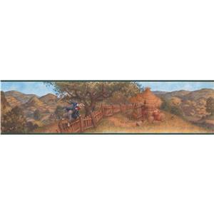 Retro Art Three Little Pigs Cartoon Wallpaper Border