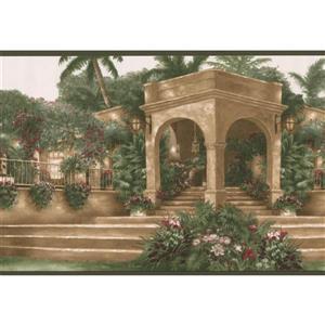 Norwall Mediterranean Palm Trees Vintage Wallpaper