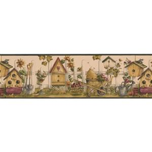 Norwall Vintage Birdhouses and Sunflowers Wallpaper