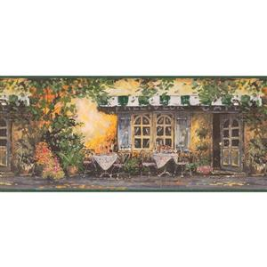 Retro Art Vintage Outdoor Café Wallpaper