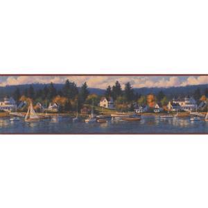 Chesapeake Vintage Yacht Club in Marina Wallpaper
