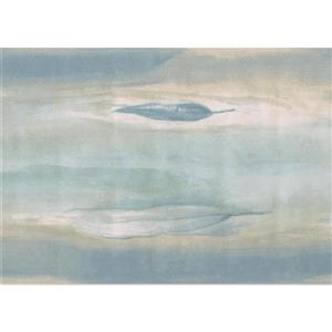 Norwall Vintage Floating Leaves Wallpaper Border - Blue