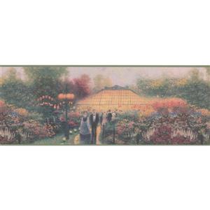 Retro Art Vintage Party in the Garden Floral Wallpaper