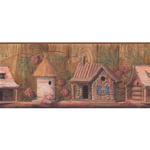 York Wallcoverings Vintage Birdhouses Wallpaper Border