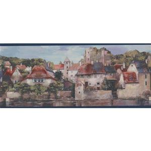 York Wallcoverings Vintage City by River Wallpaper Border
