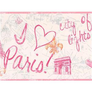 York Wallcoverings Paris: City of Love and Lights Wallpaper - White