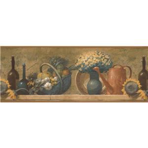 Norwall Fruit Basket Bouquet Kitchen Wallpaper Border