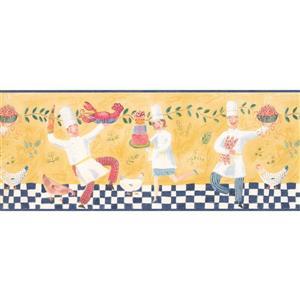 Retro Art Dancing Cooks Wallpapaper Border - Yellow