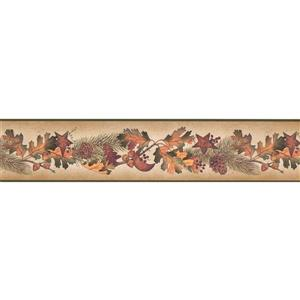 Chesapeake Autumn Leaves and Pine Cones on Branches Wallpaper