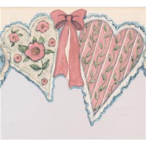 Norwall Baby Heart Wallpaper Border Roll - 15'