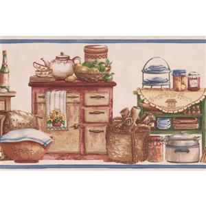 Norwall Vintage Kitchen Jars and Baskets Wallpaper