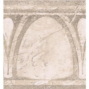 Norwall Abstract Semi Circles Vintage Wallpaper Border - Beige