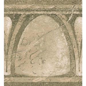 Norwall Abstract Semi Circles Vintage Wallpaper Border - Green
