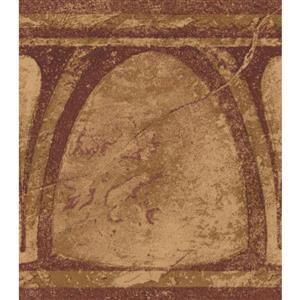 Norwall Abstract Semi Circles Vintage Wallpaper Border - Brown