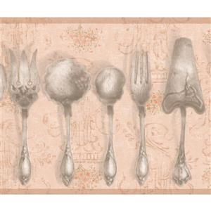 York Wallcoverings Vintage Kitchen Tableware Wallpaper - Beige