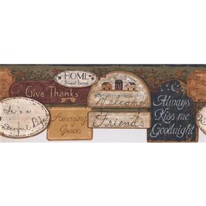 York Wallcoverings Traditional Blessing Wallpaper Border
