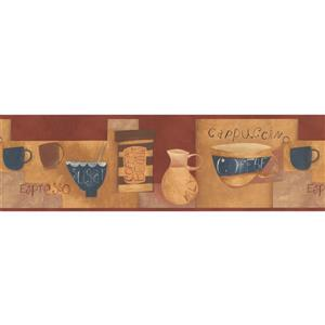 Norwall Coffee Cups Kitchen Bar Wallpaper Border